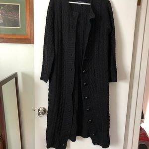 French Connection Sweaters - Heavyweight cable knit long cardigan